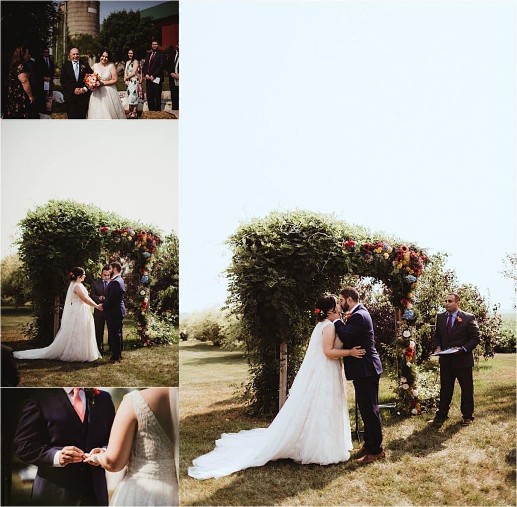 Romantic Summer Barn Wedding Outdoor Ceremony