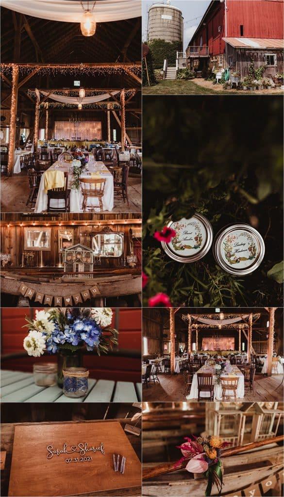 Romantic Summer Barn Wedding Reception Details