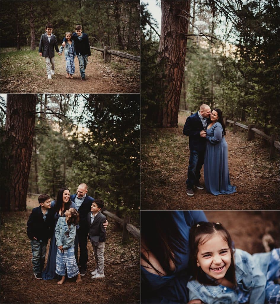 Spring Forest Family Session Collage