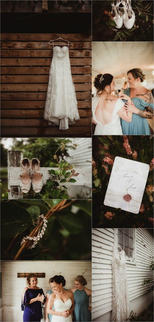 Sage Green and Ivory Wedding Getting Ready Details