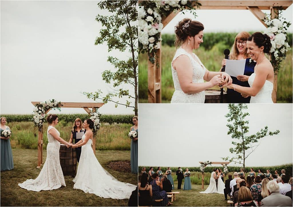 Sage Green and Ivory Wedding Ceremony