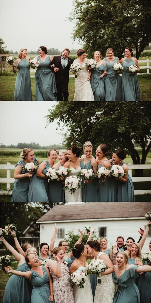 Sage Green and Ivory Wedding Party