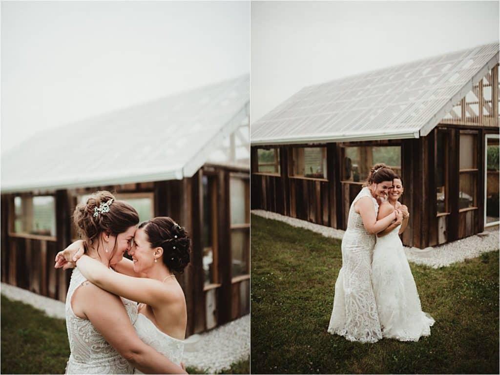 Brides Snuggling