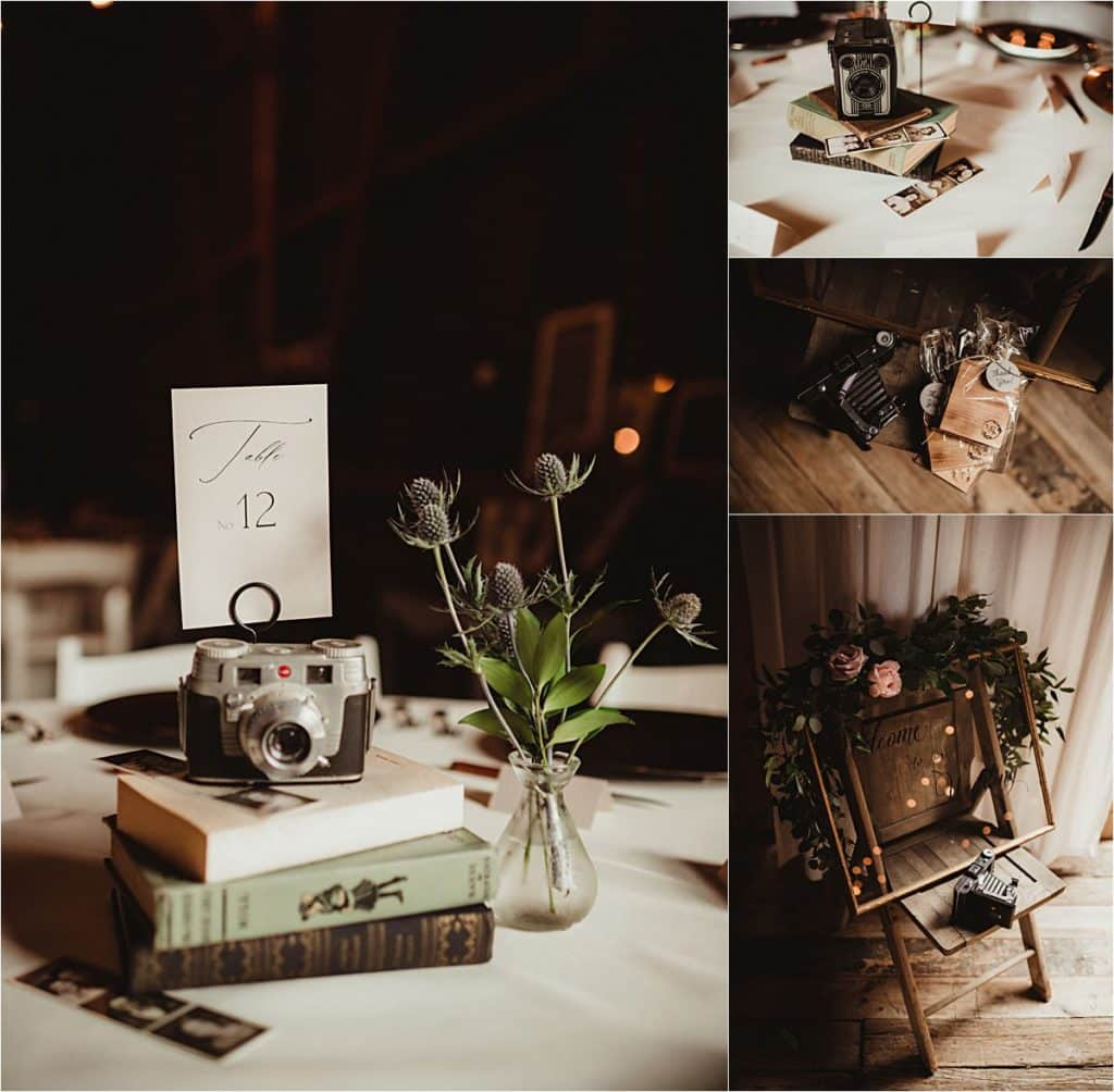 Sage Green and Ivory Wedding Reception Table Details