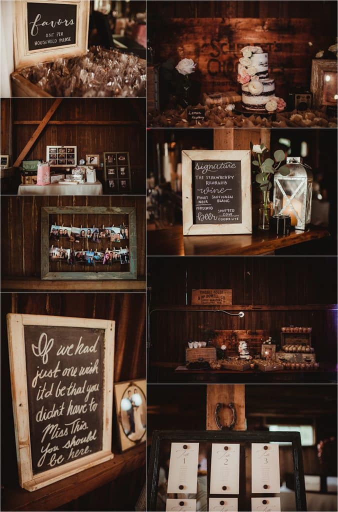 Sage Green and Ivory Wedding Reception Details