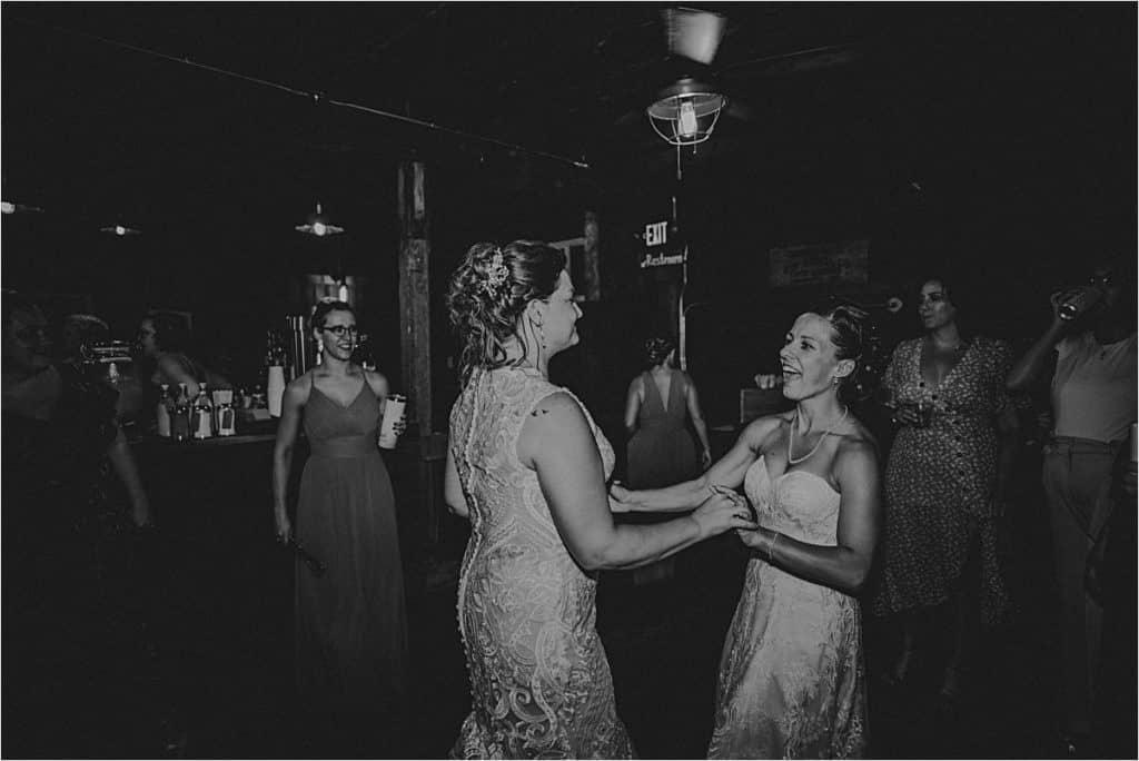 Brides Dancing Laughing